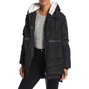 Bagatelle Sport Faux Shearling Lined Puffer Jacket